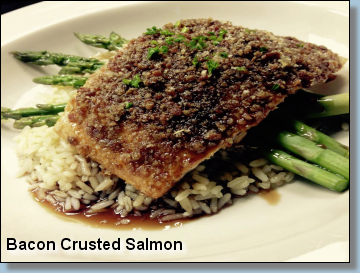 Bacon Crusted Salmon
