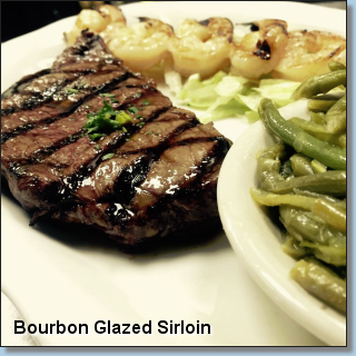 Bourbon Glazed Sirloin