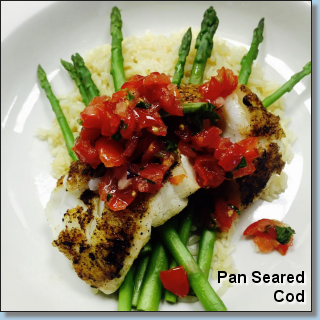 Pan Seared Cod