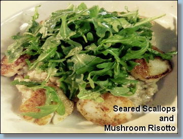 Seared Scallop and Mushroom Risotto